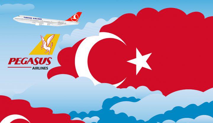 بلیط پروازهای داخلی ترکیه